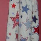 PATRIOTIC red white blue STARS crochet top towel