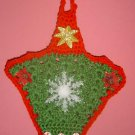 POINSETTIA CROCHET BASKET WALLHANGING