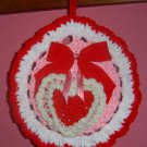 crochet HEART POTHOLDER