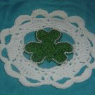 SHAMROCK IN THE MIDDLE DOILY crochet
