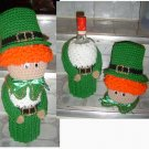 ST. PAT'S BOTTLE COVER leprechaun