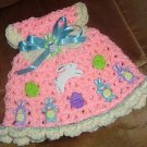 crochet EASTER DRESS potholder wallhanging
