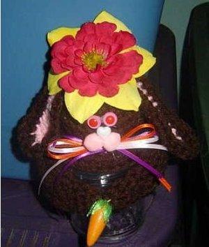 EASTER BUNNY JAR TOPPER crochet