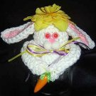 EASTER BUNNY JAR TOPPER crochet