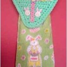 crochet EASTER EGG towel holder