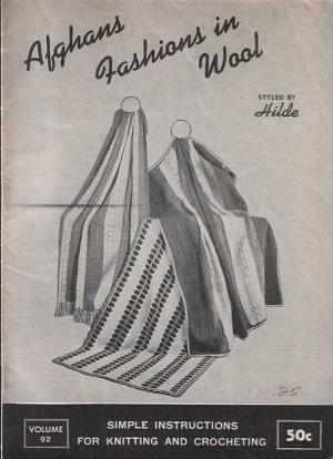Afghans Fashions in Wool Vol. 92,