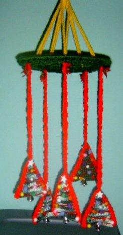 CHRISTMAS TREE MOBILE crochet