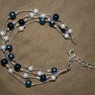 Blue Bauble Pearl Bracelet