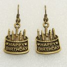 ♥Handmade Vintage Brass Birthday Cake Drop Earrings♥