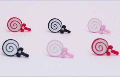 Kitsch Cute lollipop Bow Sparkly Diamante Earrings
