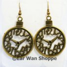 ♥ Handmade Brass Vintage Pocket Watch Clock Earrings♥