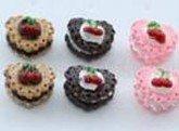 Kitsch Heart Cherry/Cherries Fruit Cake Earrings