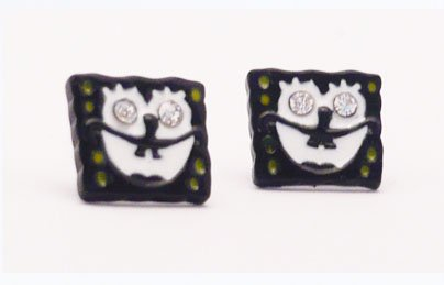 Funky Square Pants Sponge Bob Stud Earrings