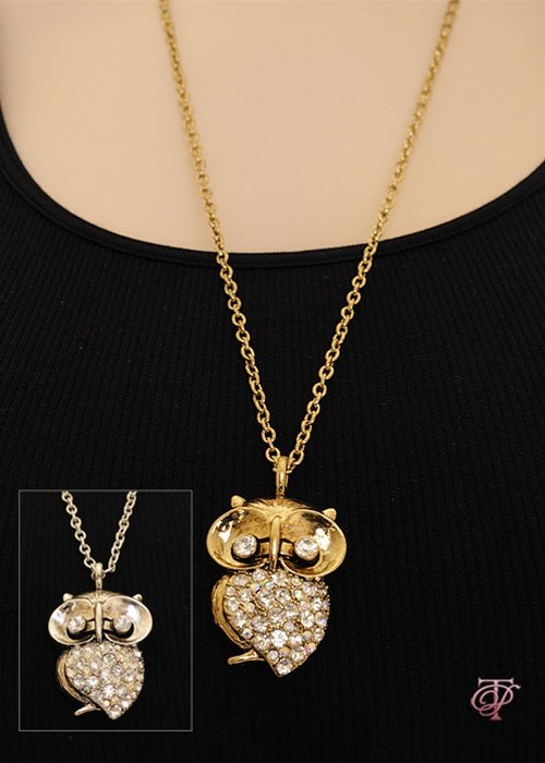 """whooty"" the owl Gold/Silv & Diamonds Accents!!!"