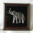 Elephant nickel in wood frame