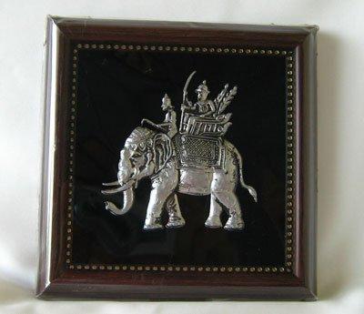 Royal Elephant nickel in wood frame