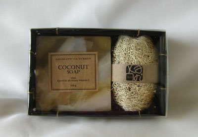 Coconut  Natural Soap in Gift Box