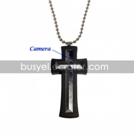 Cross Necklace with Hidden Camera + Digital Video Recorder (2GB)
