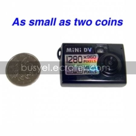 HD 1280x960 Mini Digital Video Recorder with 5.0M Pixel Lens, Motion-Activated Pin Hole Camera