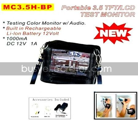 Portable 3.5 TFTLCD Test Monitor Build in Rechargeable Lilon Battery 12 Volta(SNT024)