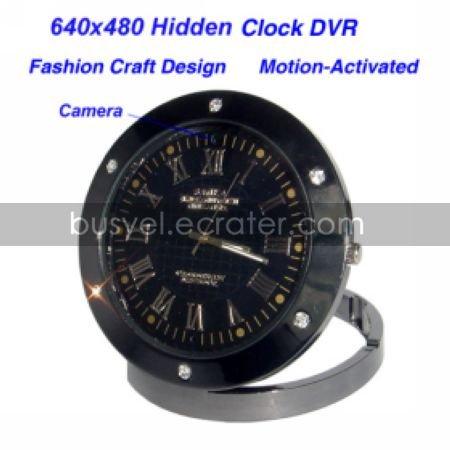 640480 Clock Style Digital Video Recorder, Motion-Activated, Hidden Pinhole Color Camera(QW113)