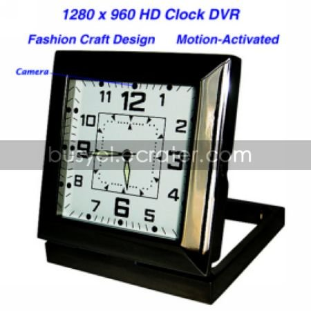Clock with HD Motion Activated Hidden Camera+Video Recorder