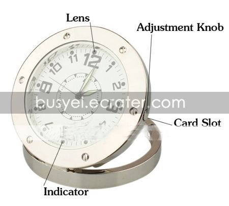 HD Motion Detection Web PC Camera Spy Clock Digital CameraHidden Camera(YPY-389)