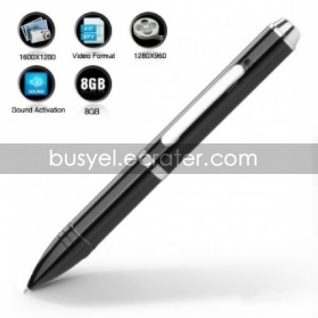 Spy Pen with Sound Activated Camera + 8GB Memory