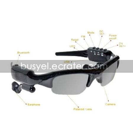 8GB Sunglasses Camera DVR Video Recorder FM Radio Bluetooth MP3 (DCE161)