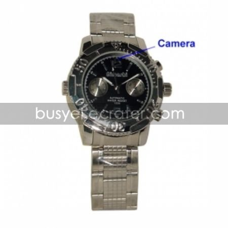4GB to 8GB Flash Memory DVR Spy Camera Wristwatch  Hidden Camera (TRA381)