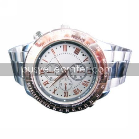 640x480 Waterproof Stainless Steel Sport Watch Digital Video Recorder with 4G MemoryHidden Camera