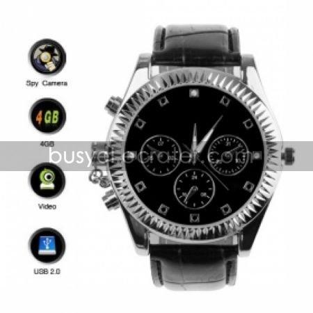 Classic Design Watch with Surveillance Video Camera