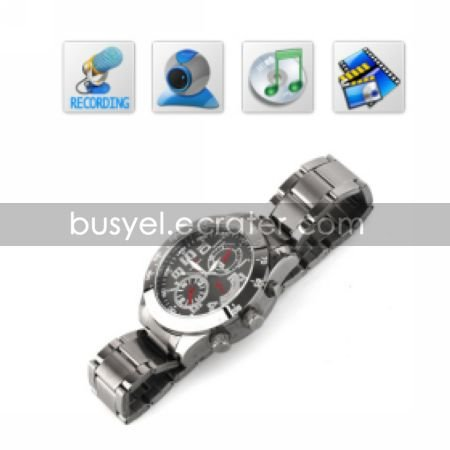 HD 8GB 640X480@30fps Spy Watch Camera Digital Video Recorder with MP3 PC Camera