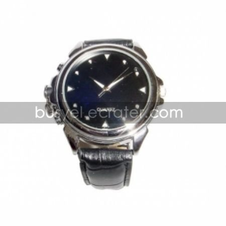 Spy Hidden Camera Watch with Stylish Leather Band and 4GB Built In MemoryHidden Camera