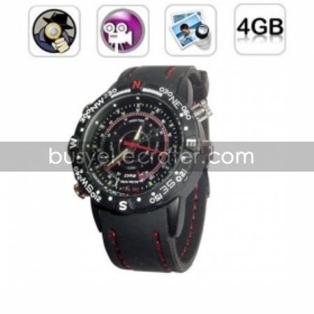 Waterproof Sport Watch Digital Video Recorder with Digital Voice Recorder, 4G MemoryHidden Camera