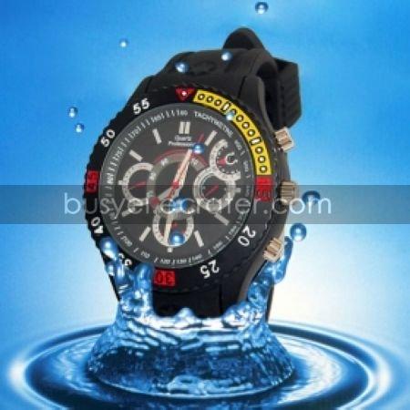 Waterproof Sport Watch with Hidden HD Camera (4GB)