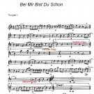 Big Band Arrangement music Chart -  Bei Mir Bist Du Schon - PDF