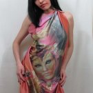 Scarf shawl original art print 85 x 118 cm SiLena FREE SHIPING WORLDWIDE
