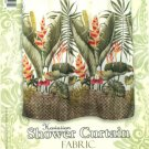 Hawaiian Tropical Fabric Shower Curtain (Hawaiian Flower)