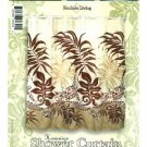 Hawaiian Tropical Fabric Shower Curtain (Turtle Under Seaweed)