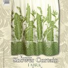 Hawaiian Tropical Fabric Shower Curtain (Bird of Paradise)