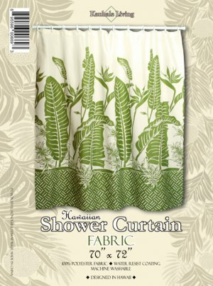 Hawaiian Tropical Fabric Shower Curtain (Bird of Paradise)