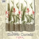 Hawaiian Tropical Fabric Shower Curtain (Heliconia)