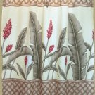 Hawaiian Tropical Fabric Shower Curtain (Ginger Flower)