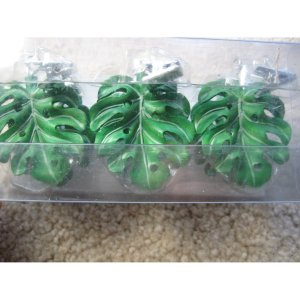 Hawaiian Tropical Tablecloth Weights, Monstera Plant, Set of 6