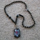 Tropical flower Lampwork Glass Pendant Necklace A