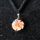 Tropical flower Lampwork Glass Pendant Necklace G
