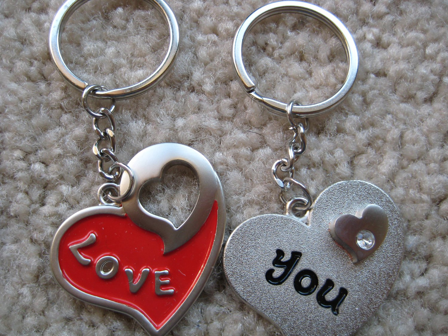 Love you keychains for couples