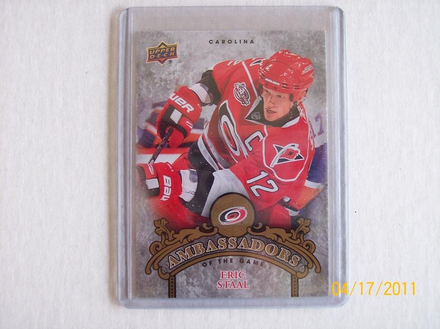 2010-11 Upper Deck Hockey Series 2 - Ambassadors of the Game #AG43 - Eric Staal