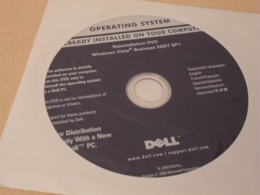 DELL Microsoft Windows Vista Business 32Bit SP1 Reinstallation SP1 DVD !